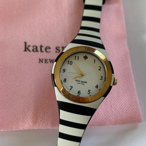 Kate Spade Black and White Stripe Rumsey Watch